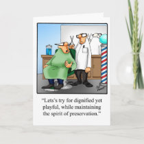 Birthday Humor Greeting Card For Him