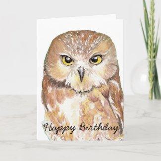 Birthday Humor Owl Card card