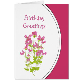 Birthday Humor, Sweet Peas for the Sweetheart Card