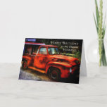 """Birthday - Husband - Classic Truck Card<br><div class=""""desc"""">If your hubby is a real car buff or simply enjoys things from yesteryear,  then this card is perfect for him... .</div>"""