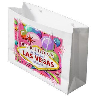BIRTHDAY In Fabulous Las Vegas Gift Bag Large Gift Bag