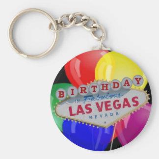 Birthday IN Fabulous Las Vegas Keychain - Balloons