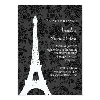 Birthday in Paris (black) Card