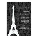 Birthday in Paris (black) Personalized Invitations