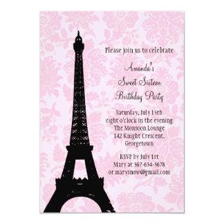 Birthday in Paris Sweet Sixteen Card