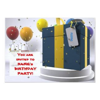 Birthday invitation 13 cm x 18 cm invitation card