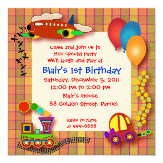 Birthday Invitation: 001 Card