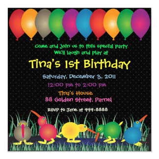 Birthday Invitation: 010 Kiwi Card