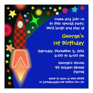 Birthday invitation : 014 Outer space
