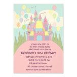 "Birthday Invitation 022: Castle 5"" X 7"" Invitation Card"