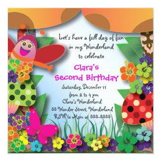 Birthday Invitation 054: Wonderland