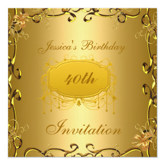 Birthday Invitation All Occasions Gold