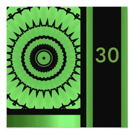 Birthday Invitation Black & Green