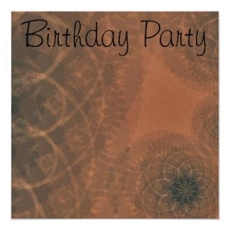 Birthday Invitation Bronze Abstract