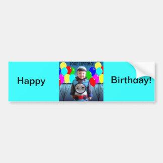 Birthday Invitation Bumper Stickers