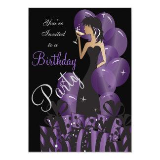 Birthday Invitation, Classy Girl's Party Card