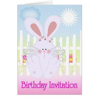 Birthday Invitation Cute as a Bun Card