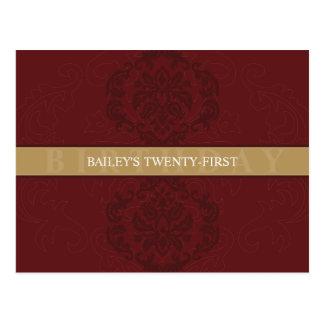 BIRTHDAY INVITATION :: finesse 1 Post Card