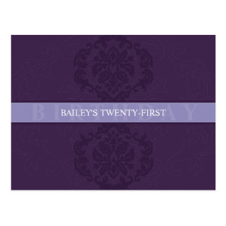 BIRTHDAY INVITATION :: finesse 3 Postcards