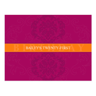 BIRTHDAY INVITATION :: finesse 5 Post Cards