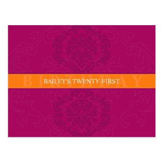 BIRTHDAY INVITATION :: finesse 5 Postcard