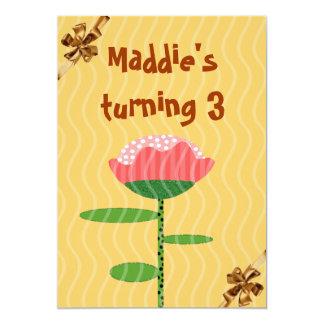 "birthday invitation party 5"" x 7"" invitation card"
