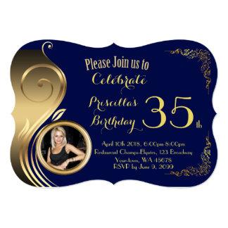 Birthday Invitation PHOTO,any age,Gatsby style