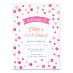 Hand shaped Birthday Invitation | Pink confetti spots