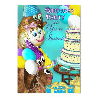 BIRTHDAY INVITATION -POTATO FAMILY COLLECTION