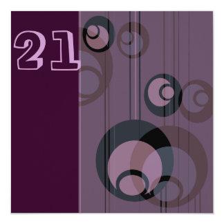 Birthday Invitation Purple Bubbles