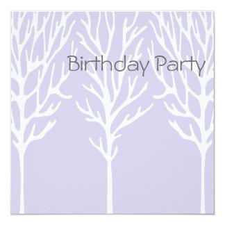 Birthday Invitation Purple Tree