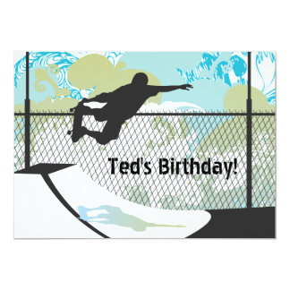 Birthday Invitation - Skateboard