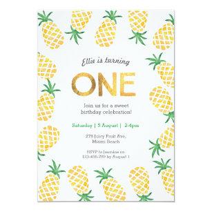 pineapple invitations zazzle