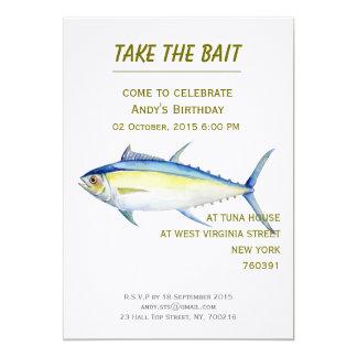 Birthday Invitation tuna illustration