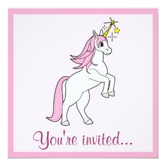 Birthday Invitation Unicorn Rearing