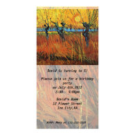 Birthday invitation.Willows at Sunset by van Gogh. Photo Card