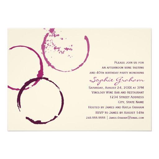 Personalized Wine Tasting Invitations Custominvitations4u Com