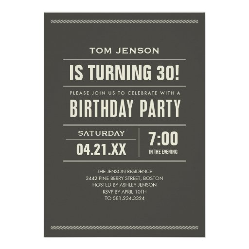 Invitation Cards For Birthday Party For Adults with good invitations layout