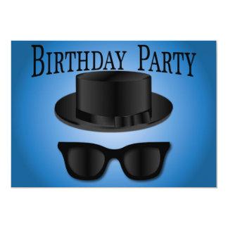 Birthday Invite - Pork Pie Hat and Shades