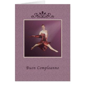 Birthday, Italian, Buon Compleanno, Ballerina Card