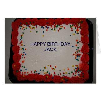 Birthday, Jack Card