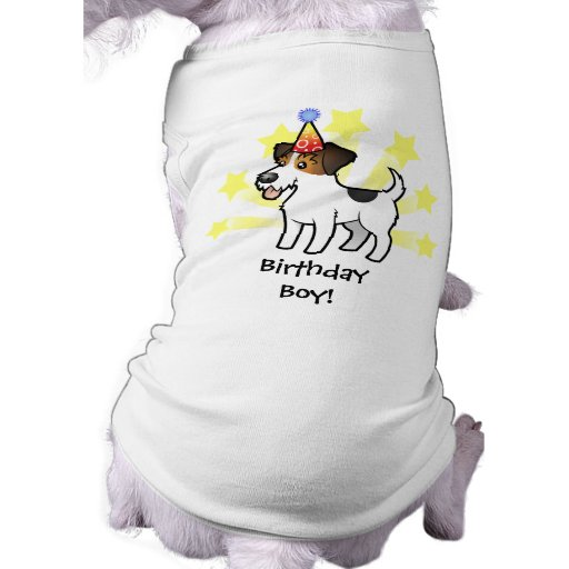 Birthday Jack Russell Terrier Dog T-shirt