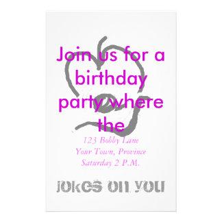 Birthday Jokes Invitation Party Stationery
