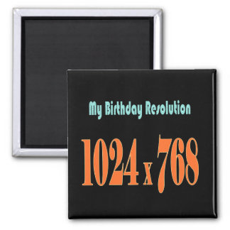 Birthday jokes refrigerator magnets