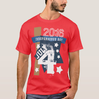 BIRTHDAY July 4th RED WHITE BLUE Custom Year V11C T-Shirt