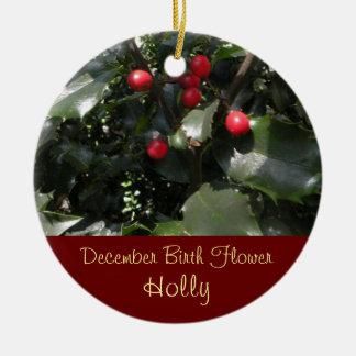 Birthday Keepsake - December Birth Flower Ornament