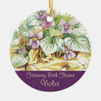 Birthday Keepsake - February Birth Flower Ornament