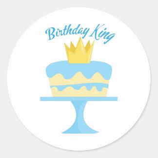 Birthday King Classic Round Sticker