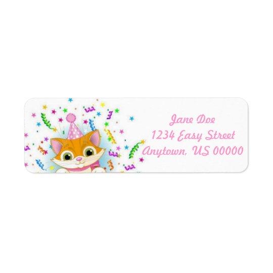 Birthday Kitty Label