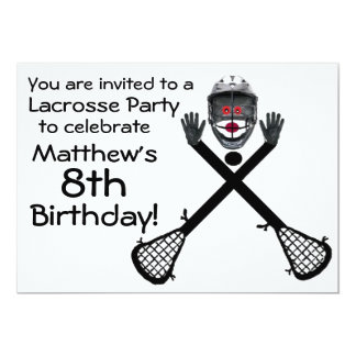Birthday Lacrosse Party Invitation